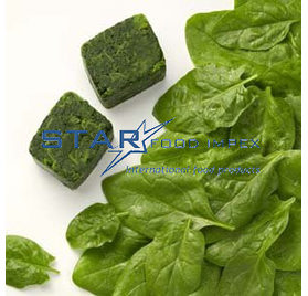 Spinach in portions